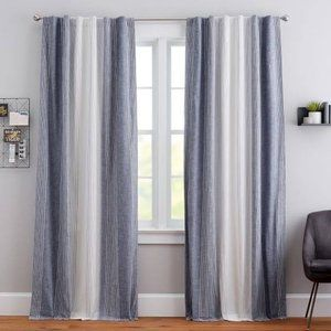 NEW:Pottery Barn:Ombre Stripe Blackout Curtain